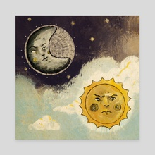 Sun and Moon (you and i) - Canvas by Tamás Liczkai