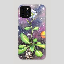 Plants in Space (#3 in series) - Phone Case by Melissa Kelley