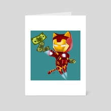 Iron Meow - Art Card by Angie Hu