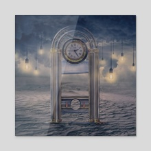 Guillotine clock - Acrylic by Jared Sandoval