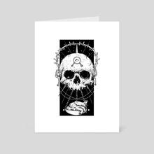 Skull & Heart - Art Card by Kacper  Gilka