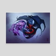 Nightcrawler Dragon - Canvas by Lynton Levengood