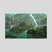 Waterfalls - Canvas by Chris Reilly