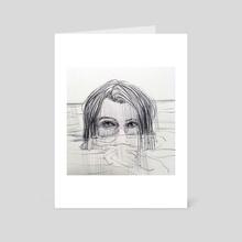 head in the water  - Art Card by Juliette GUENARD