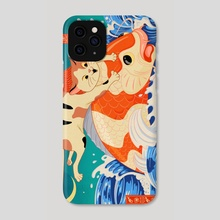 Catching Koi Fish - Phone Case by Jake Giddens