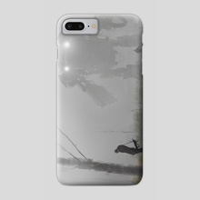 robot in the mist - Phone Case by Jakub Różalski