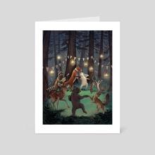 Woodland Wedding - Art Card by Rebecca Solow