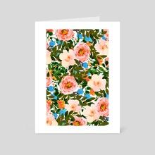 Rose Garden - Art Card by 83 Oranges