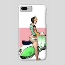 Vespa Girl - Phone Case by Randall Whiteis
