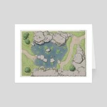 Tranquillity Pond - Art Card by Rafał Zatwarnicki