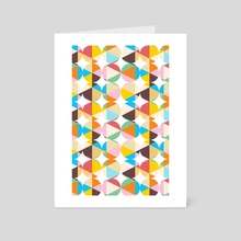 Retro Geometry - Art Card by 83 Oranges