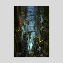 Kowloon Walled City - Canvas by Jared Shear