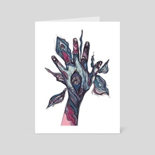 hand - Art Card by Anastasiya Lisovska
