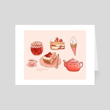 Pink & Sweet - Art Card by Beverly Johnson