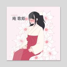 iori utahime - Acrylic by mitsupeachu