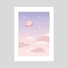 Pixel Skies - Art Print by Kaiami
