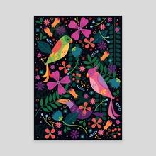 Enchanted Tiki Birds - Canvas by Carly Watts