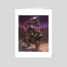 The Orc Warrior - Art Card by Rogier van de Beek