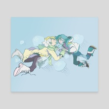 Clear & Aoba - Canvas by e hetrick jackson