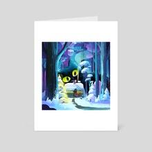 The Christmas Eve - Art Card by Oil Little