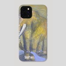 Golden Elephant  - Phone Case by Daria Borisova