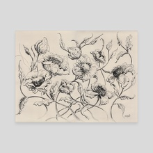 Rustic Flowers - 016 - Canvas by Vinicius Chagas