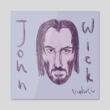 John Wick - Acrylic by Ercan Sert