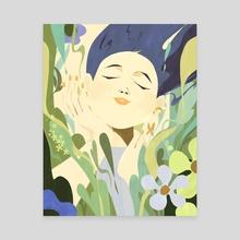 Joy - Canvas by Kim Salt