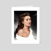 Elizabeth Olsen - Art Card by Rodney  Amirebrahimi
