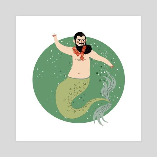 Male Mermaid by Michela Negri