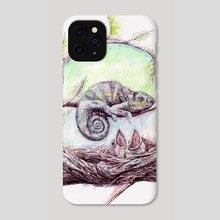 My mother is a chameleon - Phone Case by Ahmad Mujib