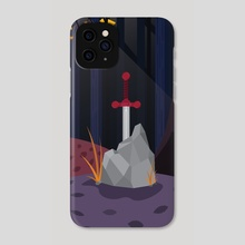 Sword in stone - Phone Case by Jia Ming Lwee