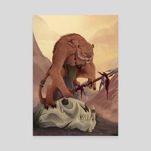 Puma Warrior - Canvas by Belen Mezzanotte