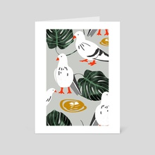 White Pigeons - Art Card by 83 Oranges
