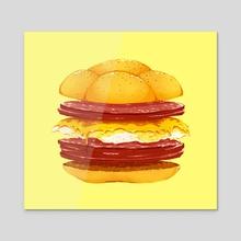 Pork Roll, Egg, & Cheese - Acrylic by Sami Cappa