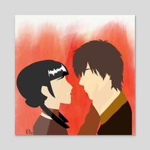Zuko and Mai - Acrylic by KP Creations