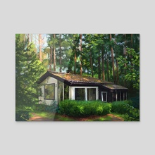 Forest Cottage - Acrylic by Maddy