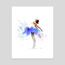 Ballerina in Watercolour - Canvas by Kieran O'Connor