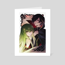 Code Geass - C.C. & Lelouch - Art Card by k