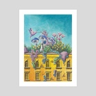Nature Taking over a Building - Art Print by Stephanie KILGAST