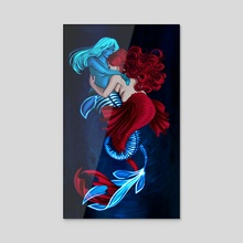 Sapphic Mermaids #02 - Acrylic by Marion KL