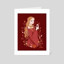 Cersei - Art Card by pau zamro