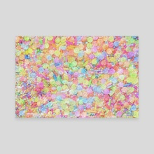 Candy Sprinkles All Over Impressionist Painting - Canvas by Bridget Garofalo