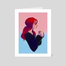 """""""Coffee break"""" - Art Card by Shaya Fury"""