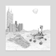 The First City on Mars - Canvas by Calvin Arnold