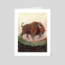 Brown bull - Art Card by Ciaran Duffy