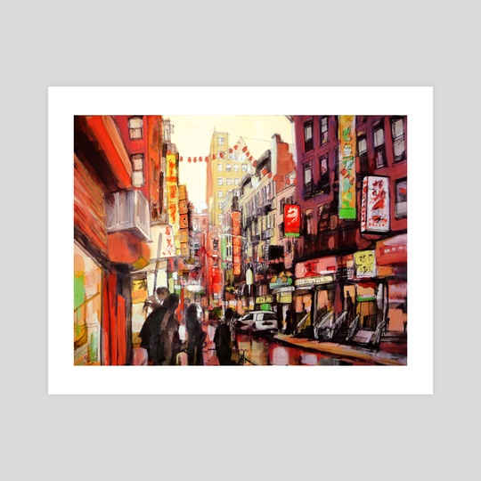 Chinatown New York City by Anselm Dästner