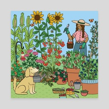 Summertime Harvest - Canvas by Mary Freelove