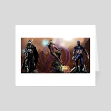 Avengers Assemble - Art Card by Shawn Norton