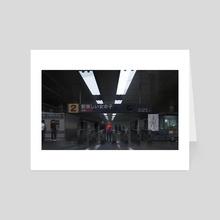 metro - Art Card by Michal Lisowski